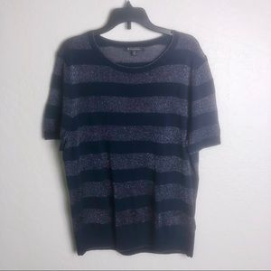 Brooks Brothers Knit Metallic Stripe Top XL